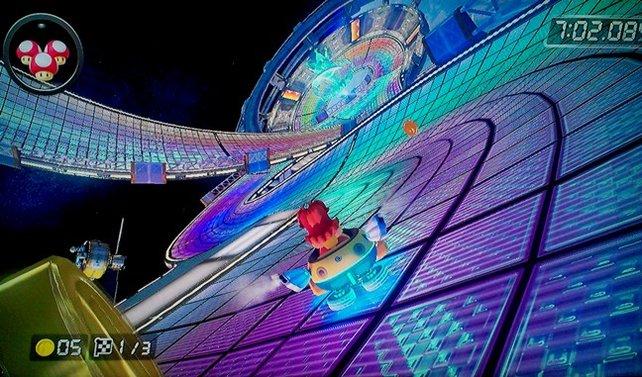 """Der berühmte Halbrundensprung auf dem N64-""""Regenbogen-Boulevard"""" wurde in der Retroversion ersatzlos gestrichen."""