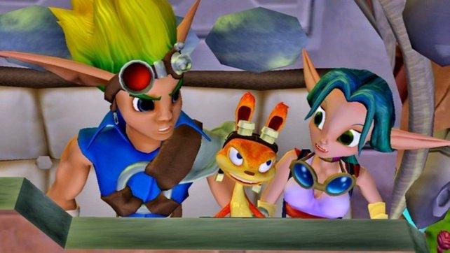 Die hübsche Mechanikerin Keira bringt Jak und Daxter ins Schwärmen.