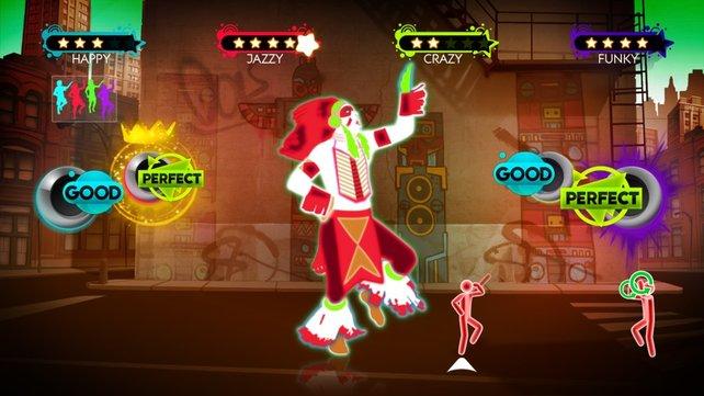 Just Dance 3 ist genauso wie sein Vorgänger - bunt und verrückt.