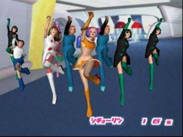 Ulala und ihre geretteten Geiseln beim.....tanzen