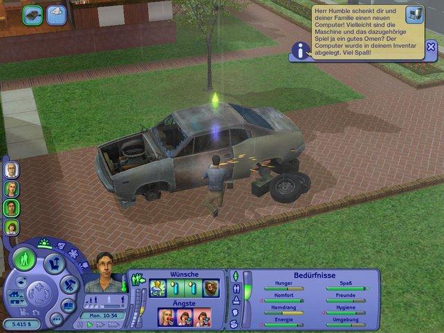 Neu im Spiel: ein Auto wieder zusammenbasteln