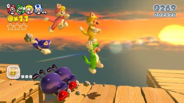 Ja, Peach als wilde Mietze hat schon was. Mario darf sich im Moment aber nicht erlauben, sich davon ablenken zu lassen. Tjaja, der Stress.