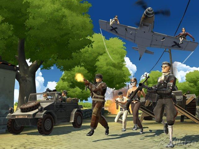 Der Comic-Stil des Spiels macht Battlefield Heroes besonders.