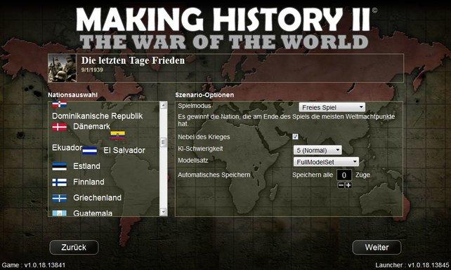 Ihr könnt aus über 200 Nationen wählen.