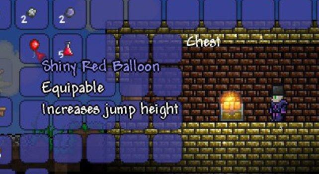 Mit dem Heliumballon springt ihr höher.