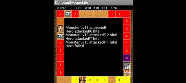 Wenn ein Monster eure Lebenspunkte auf null reduziert, ist das Spiel aus.
