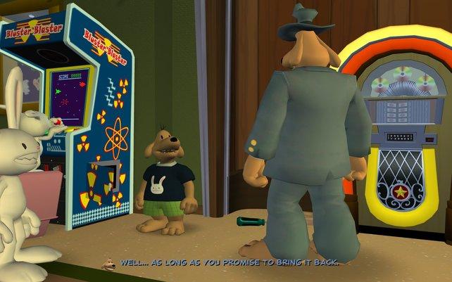 Sam & Max treffen sich im Rahmen der Zeitreisen selbst.