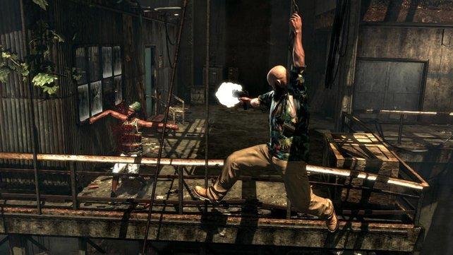 Bei Max Payne geht's deftig zur Sache.