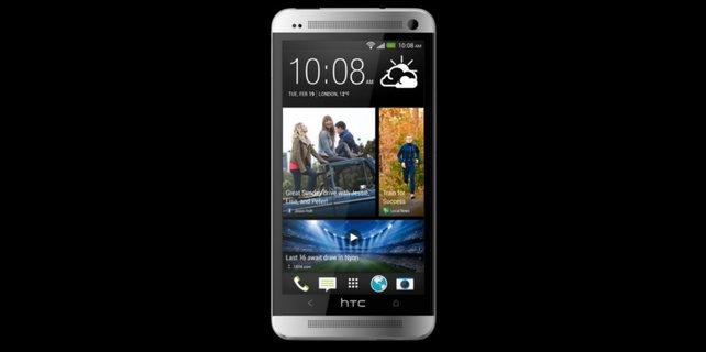 Das edle Aluminiumgehäuse verleiht dem HTC One Highend-Charakter.