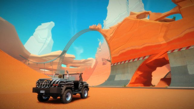 Die Wüstenstrecken erinnern an alte Road-Runner-Zeichentrickfilme.