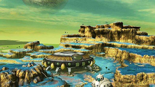 Auch der grüne Planet Namek der Dragonball-Reihe stellt eine der Kampfarenen dar.
