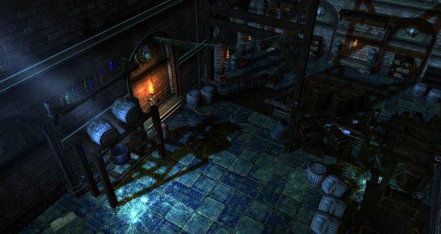 Stimmige Lichteffekte setzen dunkle Gebiete gut in Szene.