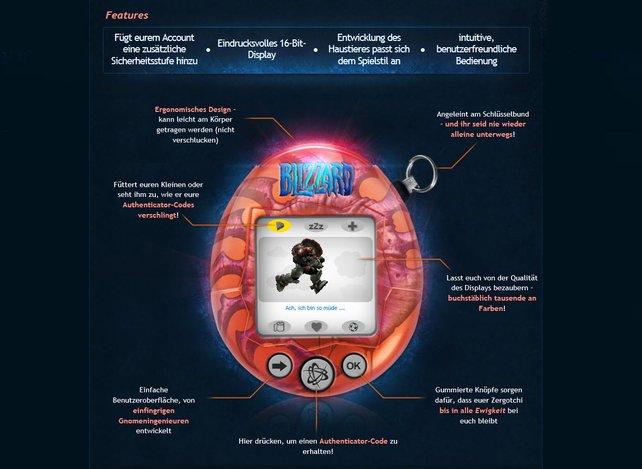 Blizzard spielt mit dem Zergotchi auf das Tamagotchi an.