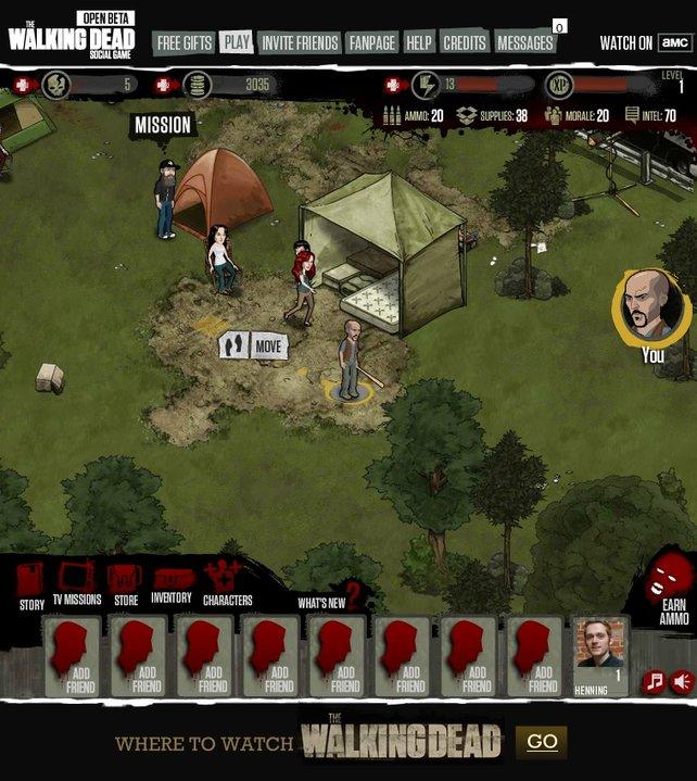 Ihr mögt die Zombie-Serie The Walking Dead? Dann gefällt euch vielleicht auch das zugehörige Facebook-Spiel.