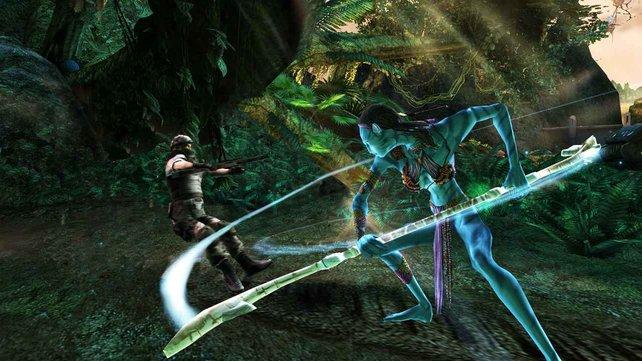 Vermeidet den Nahkampf, da euer blauer Krieger sehr schwach ist.