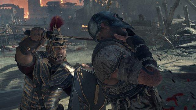 Mit einer letzten Attacke (und der richtigen Taste) erledigt ihr Gegner auf brutale Weise.