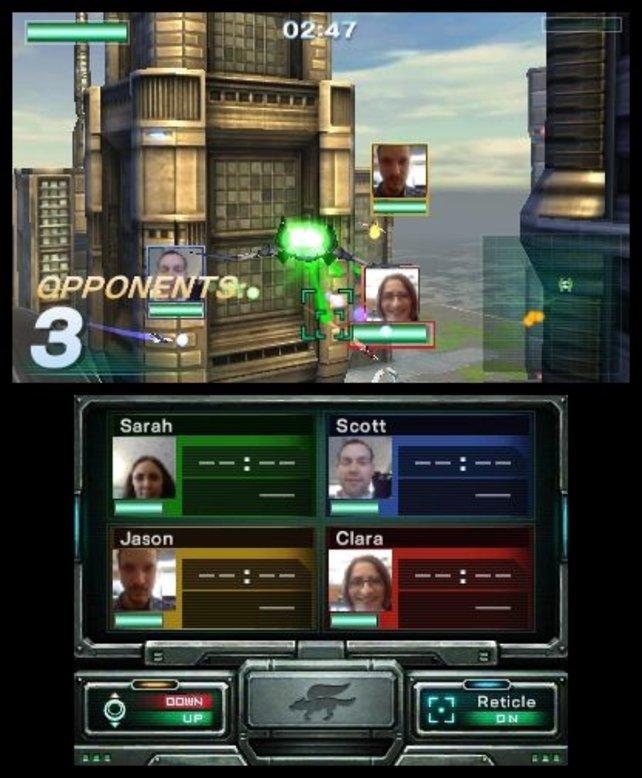Auf dem Spielbildschirm seht ihr während der Mehrspielerpartien, wie euren Freunden gerade zumute ist.