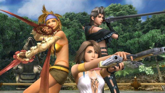 """Rikku, Yuna und Paine. Lasst an dieser Stelle in euren Köpfen die Titelmelodie von """"Drei Engel für Charlie"""" ablaufen."""