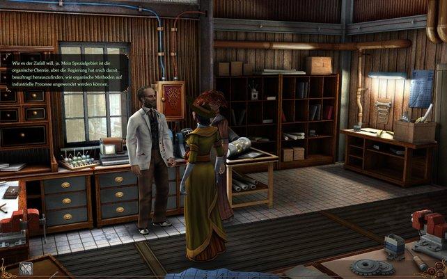Mata trifft Madame Curie in ihrem Labor und holt sich ein paar Tipps.