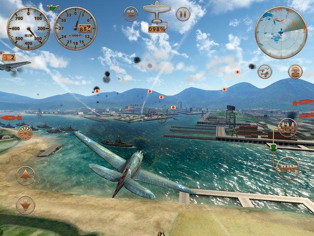 Egal ob Pearl Harbor oder England: Hier wimmelt es vor feindlichen Flugzeugen.