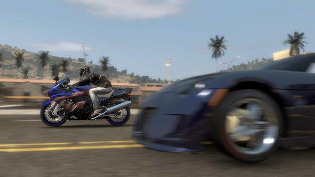 Auch Rennen Motorrad gegen Auto wird es wieder geben