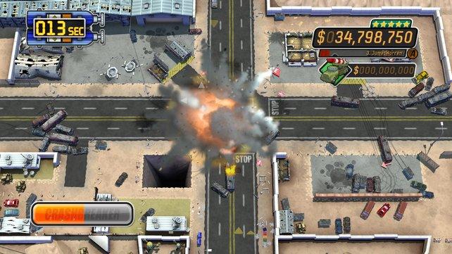 Der Raketenwagen sorgt für eine Verkehrsexplosion.