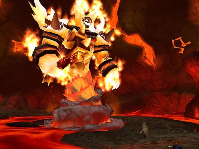 Ragnaros, der erste Endboss in WoW, hinterlässt vor allem aufgrund seiner Größe mächtig Eindruck.