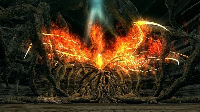 Das Chaoswesen von Izalith ist riesig und doch ganz klein.