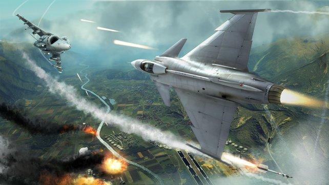 In Clancy-Spielen üblich: Spektakuläre Action, selbst am Himmel.
