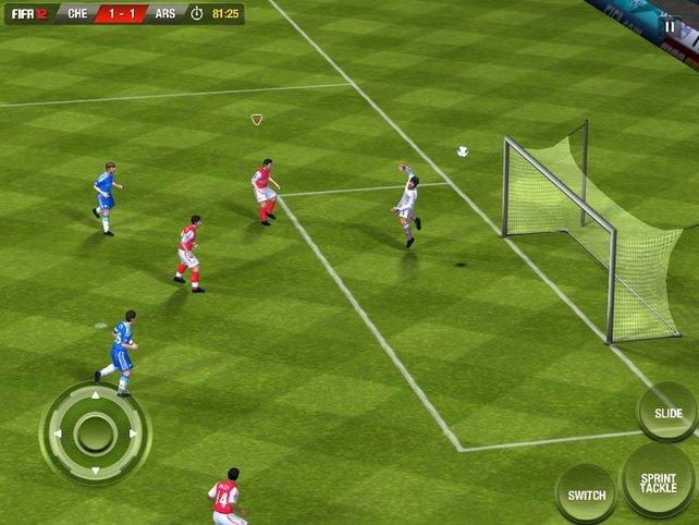 FIFA 12 ist auch auf dem iPhone absolut überzeugend.