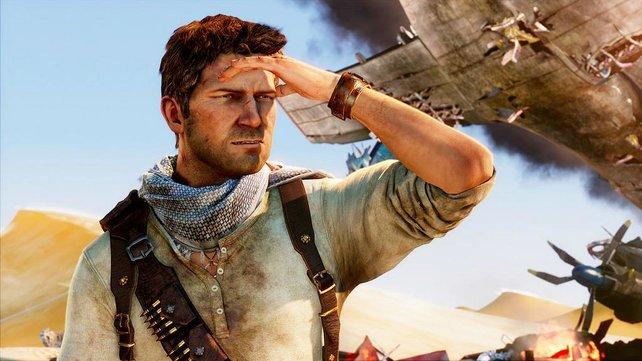 Drake ist auf der Suche nach einer verlorenen Stadt in der größen Wüste der Welt.