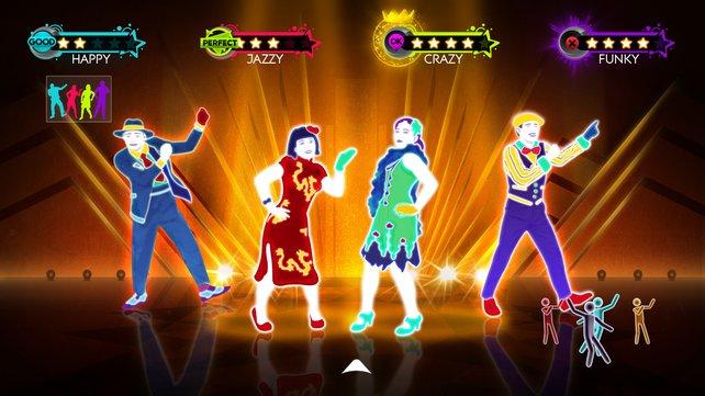 Mit bis zu vier Spielern könnt ihr euer Tanzbein in Just Dance 3 schwingen.