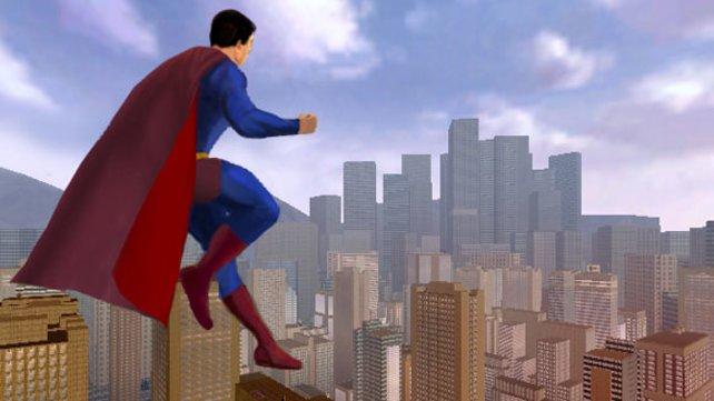 Hier ein Überblick über die unterpoligonisierte Stadt Metropolis