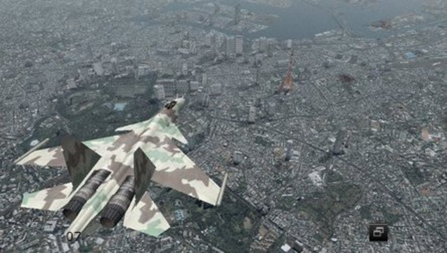 Stadtbesichtigung aus der Luft: Die dünne rote Nadel ist der Tokio Tower.