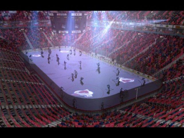 Die Mannschaften kommen auf das Eis