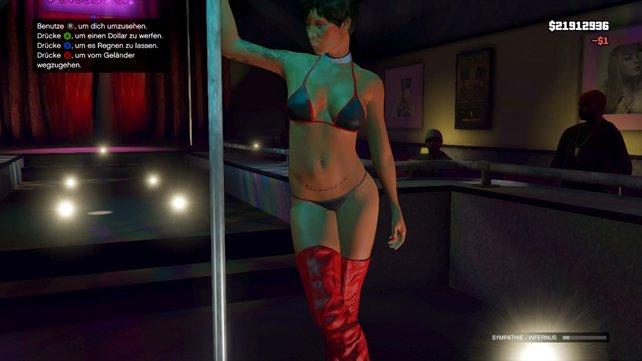 In GTA vergnügt ihr euch mit Prostituierten und in Strip-Clubs.