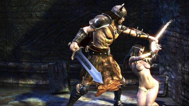 Als Gentleman hilft Conan gerne Damen in Not.