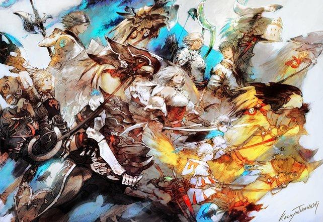 Auch auf der PS4 versammeln sich neuerdings die Helden von Eorzea.