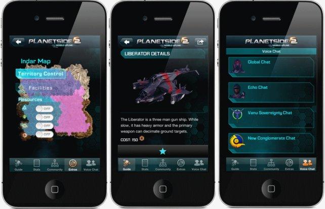 So ungefähr wird die App für iPhones aussehen. Die Kartenübersicht aktualisiert sich regelmäßig.