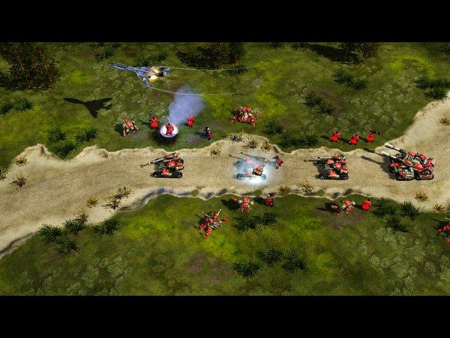Die Handlung wird auch innerhalb der Missionen mit Zwischensequenzen in Spiele-Grafik fortgeführt