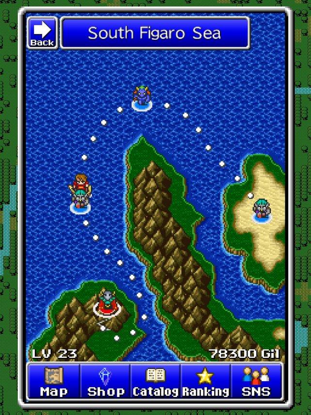 Auf der Karte ist der Weg zum nächsten Kampf strikt vorgegeben.
