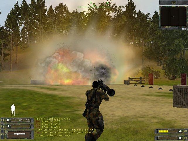 Gegen Panzer sind nur Raketen effektiv.