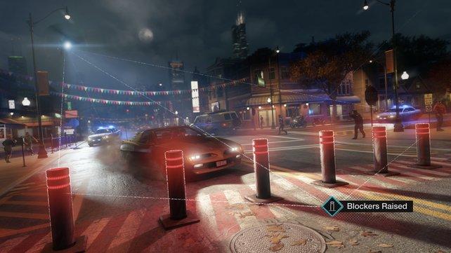Mit einem schlechten Ruf werdet ihr häufiger von der Polizi gejagt, die euch beispielsweise mit Straßensperren das Leben schwer macht.