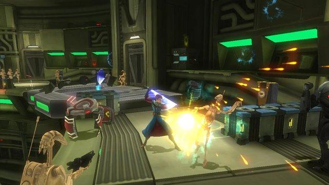Ihr könnt als Jedi das berühmte Lichtschwert benutzen und eure Gegner so besiegen.