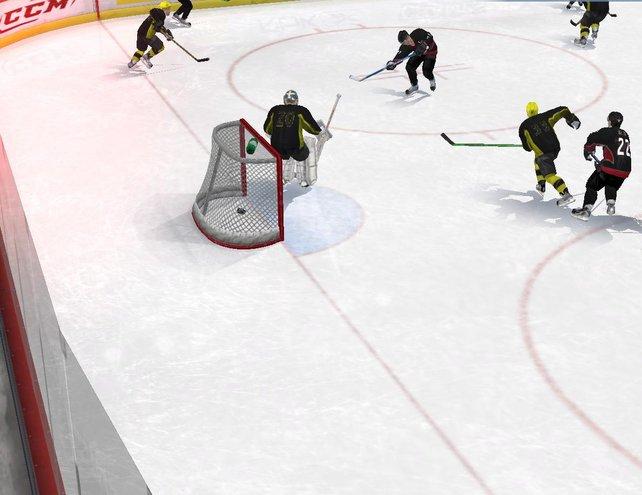"""Tore Schießen macht auch in der (neuen) alten Ausgabe """"NHL 08"""" Spaß"""