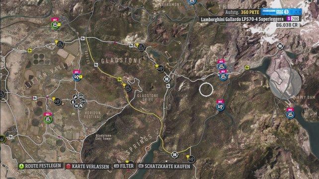 Auf der Karte legt ihr die Route zur einer Veranstaltung oder anderen Orten fest.