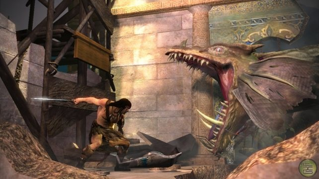 Bosskämpfe mit interactiven Aktionen à la God of War.