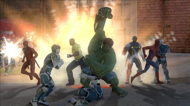 Hulk müsst ihr erst freispielen.
