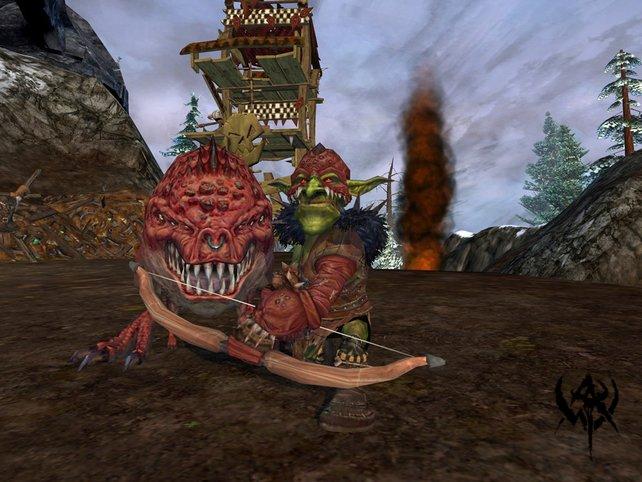Der Squigtreiba zieht mit seinem tödlichen Squig in den Kampf - besser so, denn der Goblin kann nicht viel einstecken