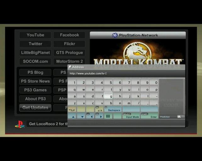 Das PSN bietet zwar keinen Cross-Game-Chat wie Xbox Live, dafür aber einen kompletten Internetbrowser.